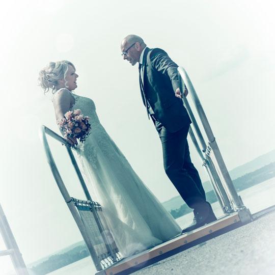 Hochzeitsfotografie-Schiffssteg